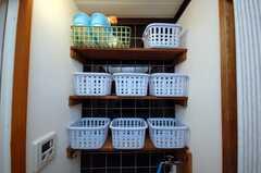 お風呂道具を置いておけるストッカー。(2008-06-04,共用部,OTHER,1F)