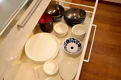 食器類はシンク下に収納されています。(2015-11-12,共用部,OTHER,1F)