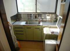 洗面台の様子。共用PCも置いてあります(2008-01-08,共用部,TOILET,2F)