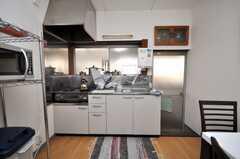 シェアハウスのキッチンの様子。(2009-02-12,共用部,KITCHEN,1F)