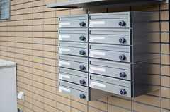 玄関のドア脇には集合ポストが設けられています。(2013-07-31,周辺環境,ENTRANCE,1F)