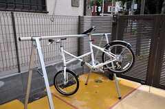 ロードバイク用のスタンドも設置。(2010-10-18,共用部,OTHER,1F)