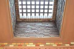 上を見上げると格子の天窓があります。(2013-05-10,周辺環境,ENTRANCE,1F)