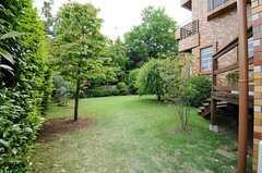庭の様子。基本的にオーナーさんの専有部ですが、入居者さんであれば立ち入ることも可能です。(2013-05-10,共用部,OTHER,1F)