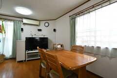 リビングの様子2。TVの左側からベランダに出られます。(2020-06-04,共用部,LIVINGROOM,2F)