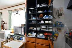 食器棚の様子。(2021-06-07,共用部,KITCHEN,2F)