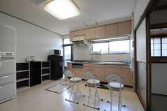 角度を変えて見たキッチンの様子。(2012-07-09,共用部,KITCHEN,1F)