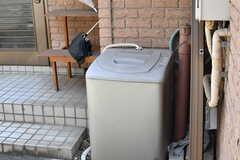 予備の洗濯機の様子。(2019-08-06,共用部,LAUNDRY,1F)