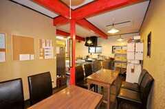 シェアハウスのラウンジの様子。(2009-07-03,共用部,LIVINGROOM,1F)
