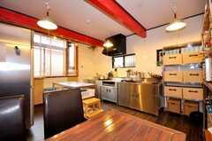シェアハウスのキッチンの様子。(2009-07-03,共用部,KITCHEN,1F)