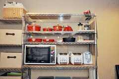 鍋類とキッチン家電の様子。(2009-07-03,共用部,OTHER,1F)
