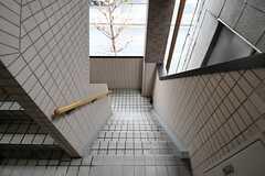 玄関へは階段でも上り下りできます。(2012-03-02,共用部,OTHER,2F)