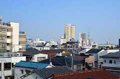 屋上からの眺め。遠くにはスカイツリー。(2012-04-09,共用部,OTHER,4F)