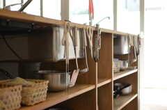 シンク下は収納スペースです。(2012-09-24,共用部,KITCHEN,1F)