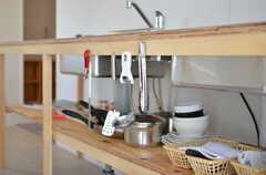 調理道具や食器類もあります。(2012-09-24,共用部,KITCHEN,3F)