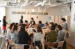 採れたて野菜のサラダランチ・パーティーの様子3。(2013-02-23,共用部,PARTY,1F)