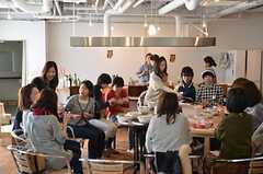 採れたて野菜のサラダランチ・パーティーの様子4。(2013-02-23,共用部,PARTY,1F)
