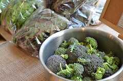 ブロッコリーはベランダ菜園で採れたものです。(2013-02-23,共用部,PARTY,1F)