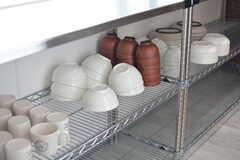 食器棚の様子。(2017-04-17,共用部,KITCHEN,1F)