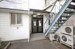 シェアハウスの正面玄関。(2009-02-17,周辺環境,ENTRANCE,1F)