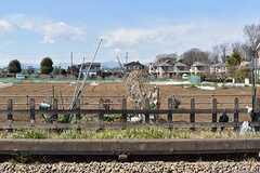 シェアハウス周辺の様子。線路の奥は田んぼです。(2017-03-09,共用部,ENVIRONMENT,1F)