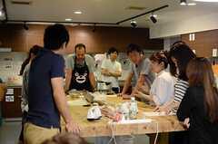 ロールケーキ教室の様子。(2014-06-07,共用部,PARTY,1F)
