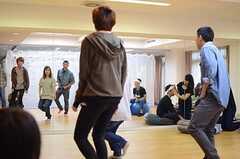普段、フィットネスルームはダンスの練習をされるひとが多いのだそう。(2014-06-07,共用部,PARTY,1F)