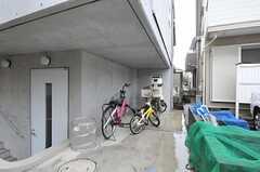 自転車置き場の様子。(2013-10-02,共用部,GARAGE,1F)