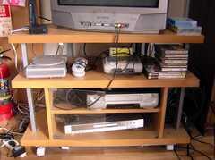 スーパーファミコン。カセットはマリオがスタンバイ。(2008-02-08,共用部,OTHER,1F)