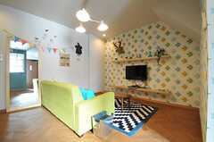 リビングの様子。海外の子供部屋のようです。(Scandinavian Style)(2013-12-24,共用部,LIVINGROOM,1F)