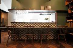 カウンターテーブルの様子。(Cafe modern Style)(2013-12-24,共用部,LIVINGROOM,2F)
