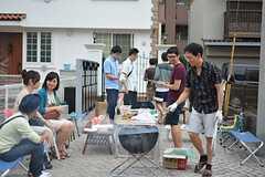 BBQパーティーの様子2。(2015-09-05,共用部,PARTY,1F)