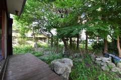濡れ縁から見た庭の様子。(2017-05-29,共用部,OTHER,1F)