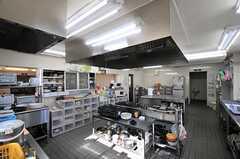 キッチンの様子2。部屋ごとに分けられた食材などを置けるスペースも用意されています。(2013-11-05,共用部,KITCHEN,1F)
