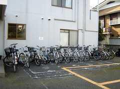 自転車置場の様子。(2008-01-11,共用部,GARAGE,1F)