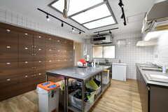 キッチンの様子2。天窓が設置されていて、明るい空間です。(2018-05-09,共用部,KITCHEN,1F)