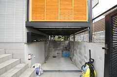 駐輪場の様子。(2014-03-07,共用部,GARAGE,1F)