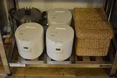 炊飯器の様子。(2013-05-27,共用部,KITCHEN,1F)