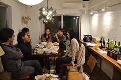 歓迎パーティーの様子。(2014-11-23,共用部,PARTY,1F)