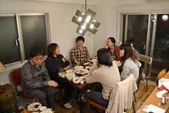 歓迎パーティーの様子3。(2014-11-23,共用部,PARTY,1F)