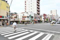 大島駅前の商店街の様子。(2017-05-31,共用部,ENVIRONMENT,1F)