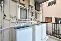 洗濯機の様子。(2019-01-29,共用部,LAUNDRY,2F)