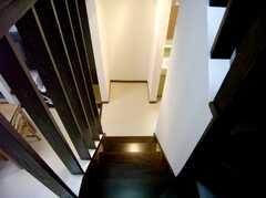 階段の様子。(2Fから1F)(2007-07-07,専有部,ROOM,2F)