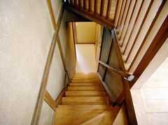 階段の様子。(2Fから1F)(2007-08-01,共用部,OTHER,2F)