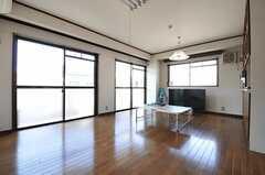 リビングの様子。入居者さんたちとジオラマを設置するのだそう。(2013-03-15,共用部,LIVINGROOM,3F)