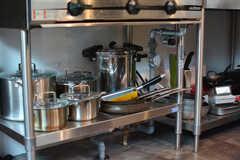 鍋やフライパン類はコンロ下に収納されています。(2020-08-05,共用部,KITCHEN,1F)
