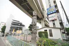 駅近くのトーテムポール。(2009-09-08,共用部,ENVIRONMENT,1F)