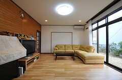 シェアハウスのリビングの様子。(2011-01-20,共用部,LIVINGROOM,1F)