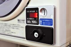 乾燥機はコイン式です。(2010-04-09,共用部,LAUNDRY,1F)