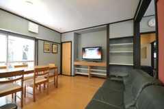 シェアハウスのリビングの様子2。(2010-06-17,共用部,LIVINGROOM,1F)